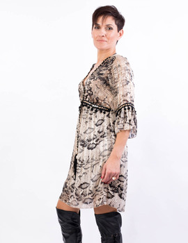 Vestido con estampado de animal print