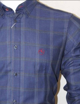 84e9ed4b5d7f Thumb 01 43880 1 Camisa Dos Galgos Hombre Cuadro Grande Marino
