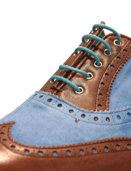 Zapato Blucher Vitelo Madison Azul