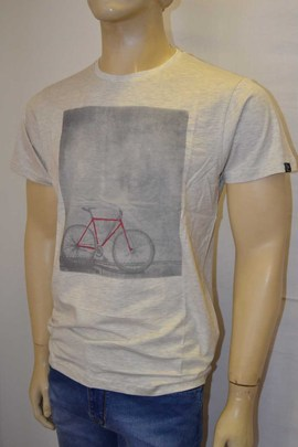 Camiseta Chico  Red Bike Beige