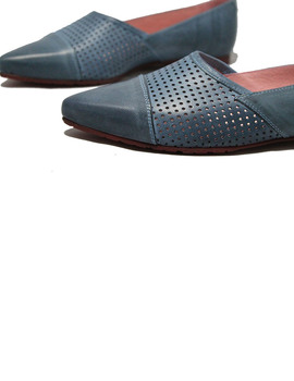 Zapato Slipper Bisue Rustik Azul
